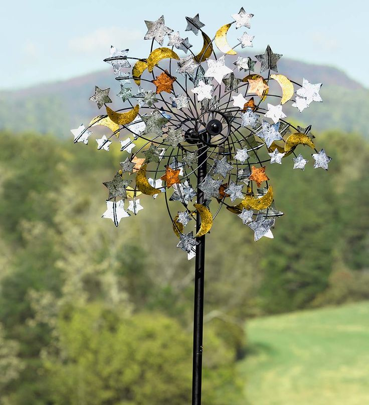 Celestial Confetti Wind Spinner | Decorative Garden Accents