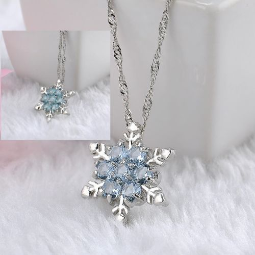Christmas-Frozen-Snowflake-Silver-Chain-Necklace-Charm-Crystal-Pendant-Element