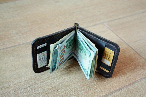 money clip, leather money clip, brown money clip, money clip wallet, custom money clip, money clips, handmade money clip, mens money clip
