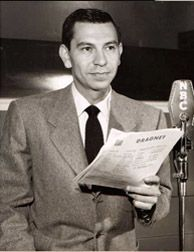 Jack Webb - Old Time Radio Shows   He did radio Dragnet and later TV Dragnet!
