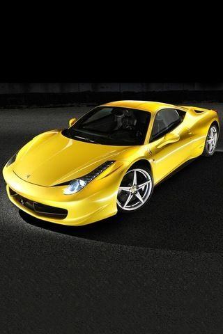 ♂ Yellow car Ferrari 458 Italia