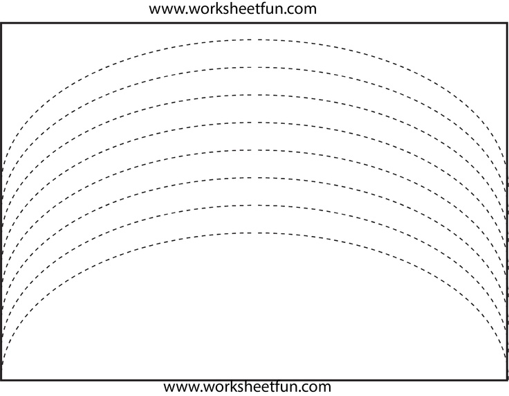curved line tracing | Preschool Worksheets | Pinterest ...