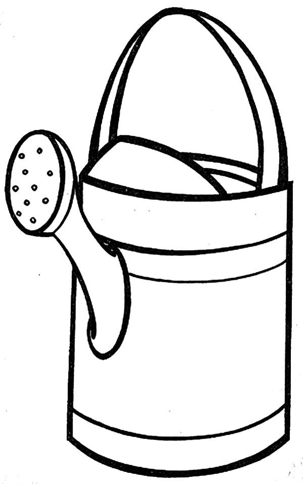 Watering Can Watering Can Coloring Page For Kids Coloring