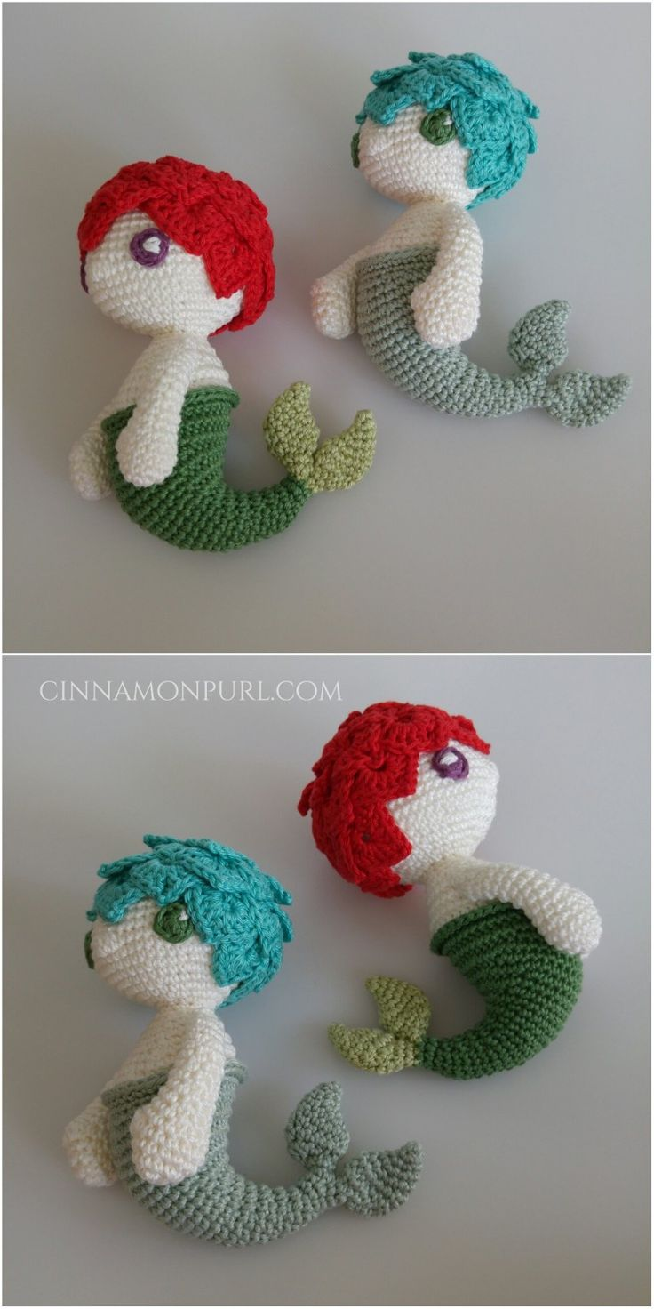 mirigurumi:  Klara the Mermaid - Free Crochet Pattern by Cinamonpurl.  Thank you to @mirigurumi for sharing this adorable little pattern!