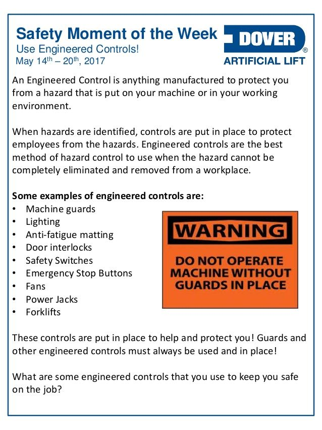 Use Engineered Controls! Alberta Oil Tool's #Safety Moment of the Week 15-May-2017