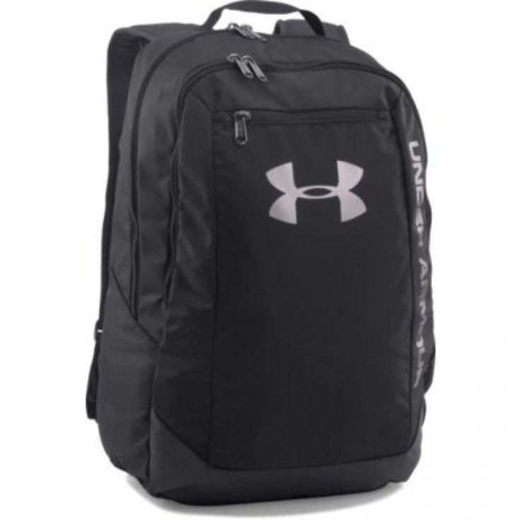 Sportovní černý batoh Under Armour s logem a nápisem
