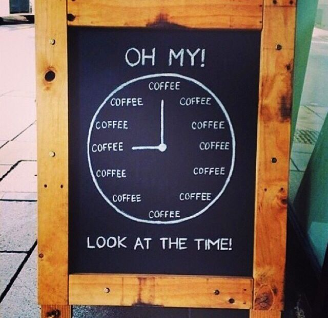 It's coffee o'clock!