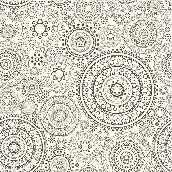 ornate circle texture, stunning black and white print. #wallpaper inspiration #circles #prints #graphics #textiles #interiordesign