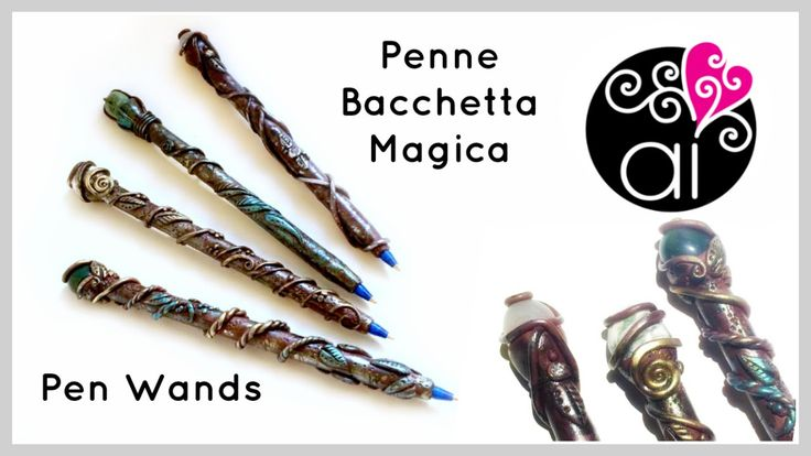 Tutorial Penne Bacchetta Magica | Ispirate a Harry Potter | Polymer Clay...