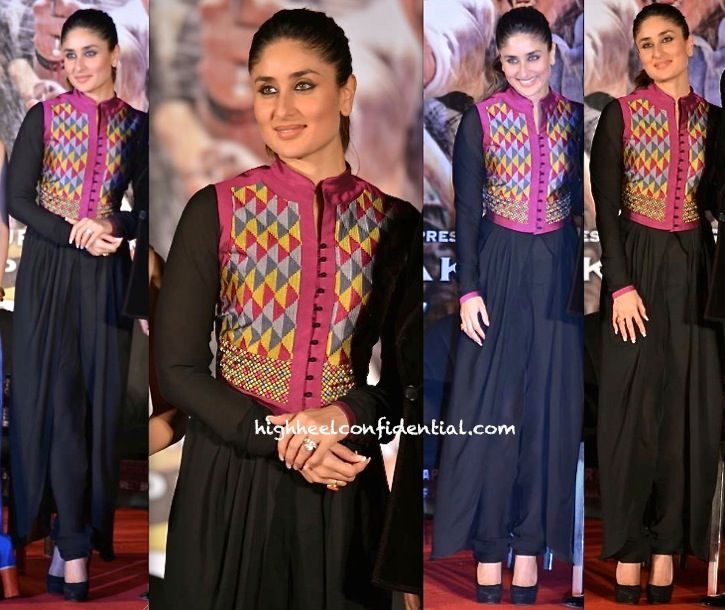After Sonam, Kareena gives us a Payal Pratap sighting at the song launch of her upcoming movie. Signature eye make-up, a ponytail and black pumps finished out her look. She looked good! - See more at: http://www.highheelconfidential.com/tag/kareena-kapoor/page/10/#sthash.5KHhcbJ2.dpuf