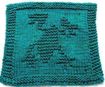 Knitting Cloth Pattern - FROG - PDF by ezcareknits for $2.85
