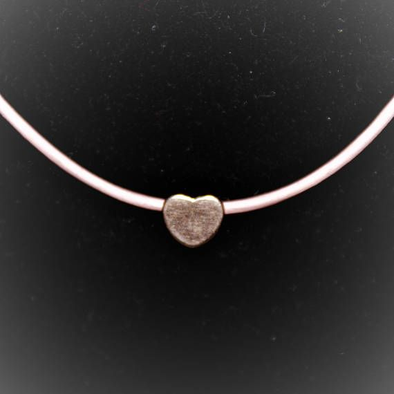 Check out this item in my Etsy shop https://www.etsy.com/ca/listing/559106018/rose-gold-heart-necklace-pink-leather