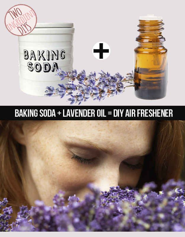 Make a simple but fresh-smelling air deodorizer with just lavender and baking soda. | 27 Insanely Easy Two-Ingredient DIY Hacks