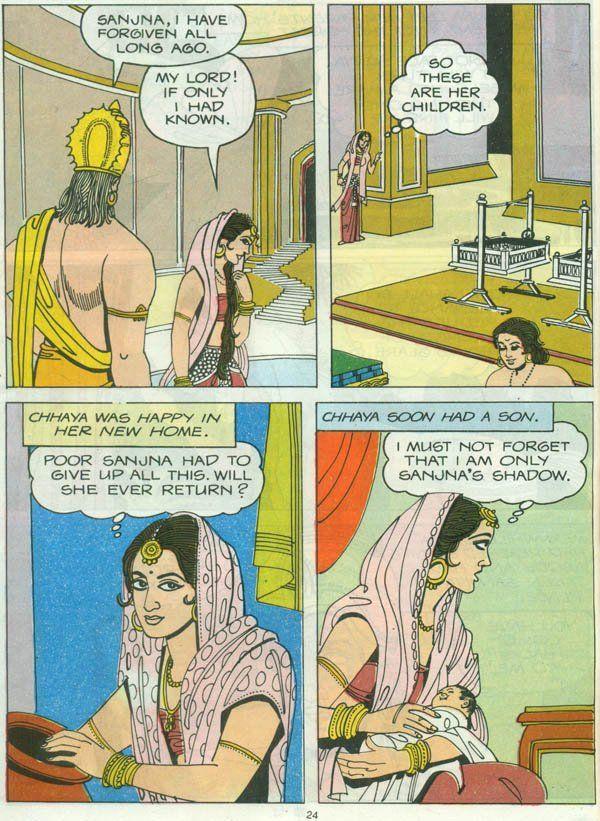 Tales From The Puranas Surya The Syamantaka Gem And Prince Hritadhwaja Hindi Comics Download Comics Bangla Comics