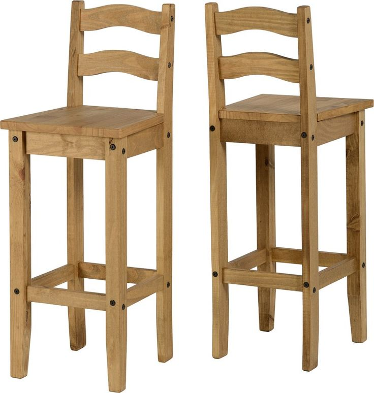 sales@spt-furniture.com  Corona Bar Chair (PAIR) Distressed Waxed Pine  Assembled Sizes(MM) 370 x 400 x 107  PINE Extra Information SEAT PAD SIZE W370 D400 SEAT PAD HEIGHT H755 BACKREST HEIGHT H315