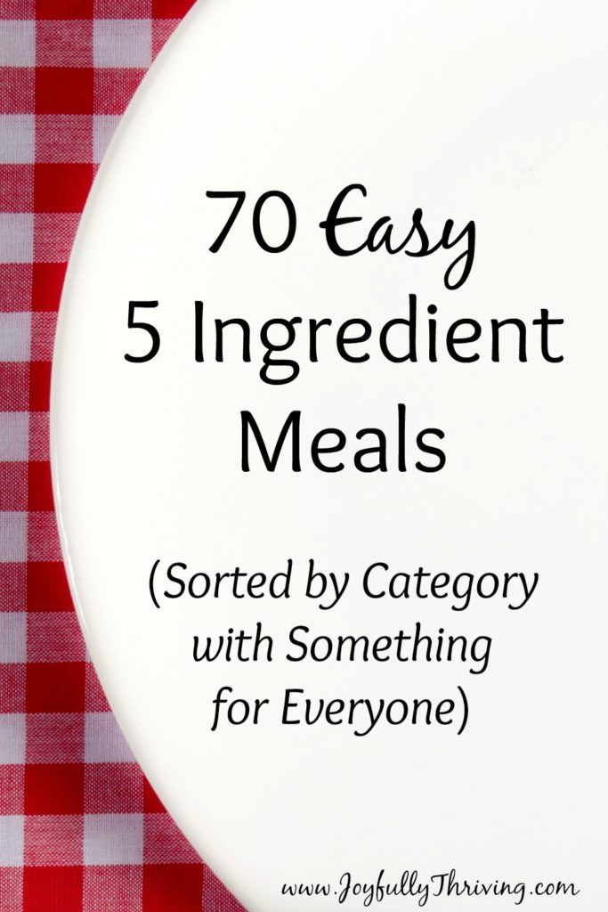 70 Easy 5 Ingredient Meals - Yes! This is exactly the meal planning resource I…