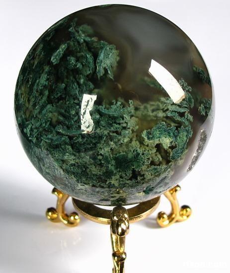 Green Moss Agate Crystal Ball