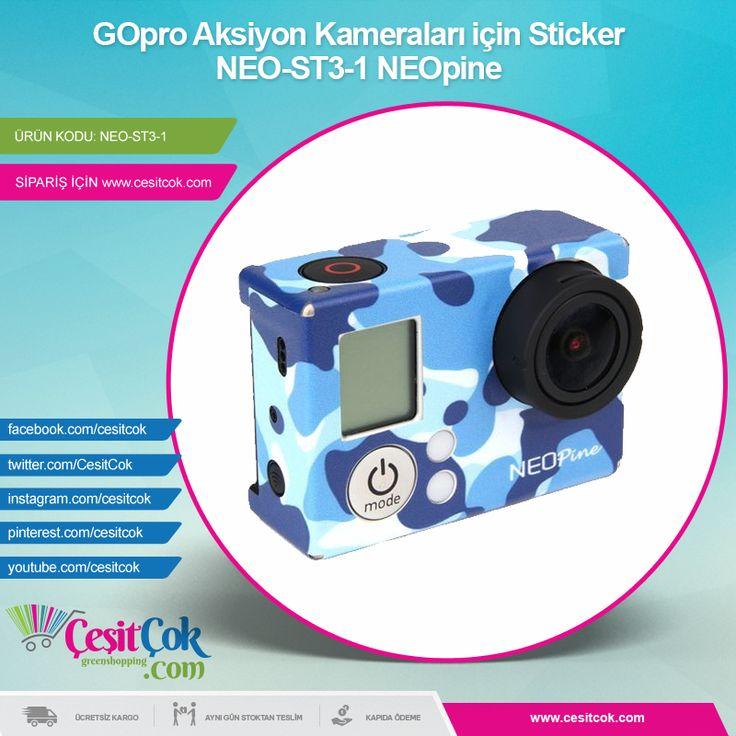 #GOpro #Aksiyon #Kameraları için #Sticker NEO-ST3-1 #NEOpine >> http://goo.gl/9dUmuW