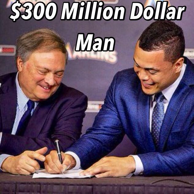 If I had a Young Son......I'm building a Batting Cage in the Backyard!!!    Giancarlo Stanton Signs his 10 year $325 Million Dollar Contract (even has an Early Buy-Out)!!!