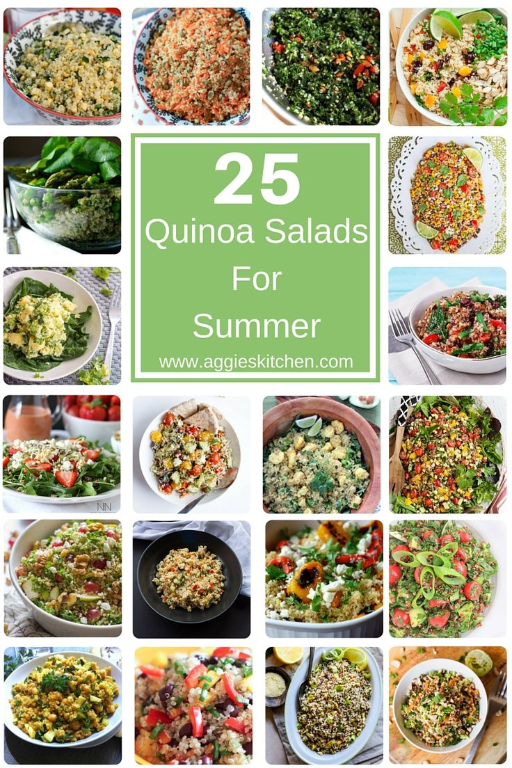 25 Healthy Quinoa Salads for Summer - lighten up this summer with these amazing and healthy quinoa salad recipes! Something for everyone!