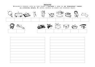 Atividades de reforço para alfabetização infantil prontos para Imprimir - SÓ ESCOLA