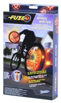 Billiga julklappar - Fuze Wheel Writer, Stencoola animationer i cykelhjulet!