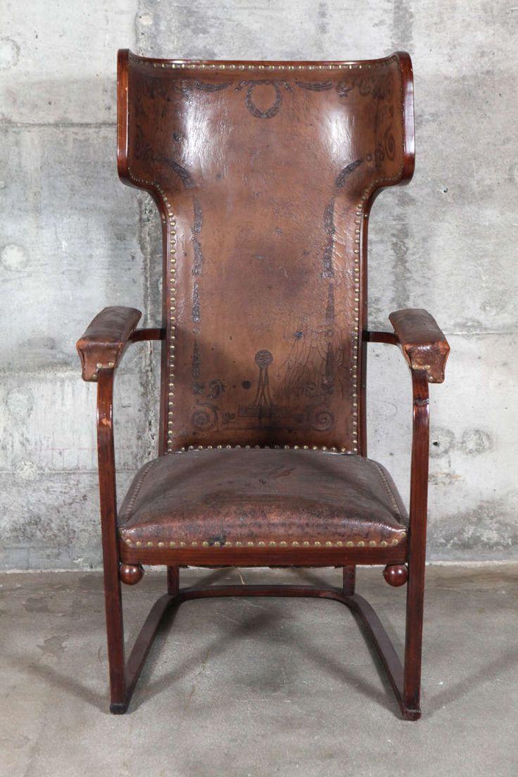 "J. and J. Kohn ""Ohrenbackensessel"" Chair by Josef Hoffmann | 1stdibs | Austria, c.1905  | price upon request"