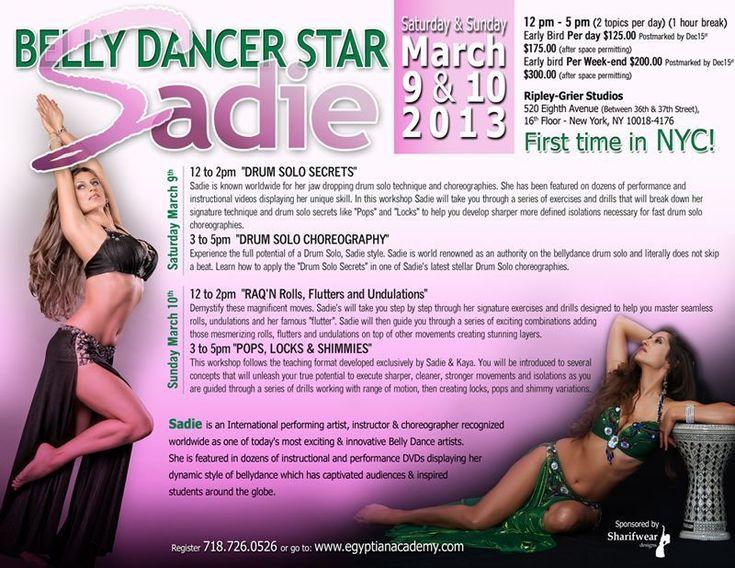 Sadie Marquardt Belly dancer Star!! First time in NYC!  #Belly dance Workshops, #Learn Belly dance, #Sadie Belly dancer, #Egyptian Academy, #Learn to Bellydance
