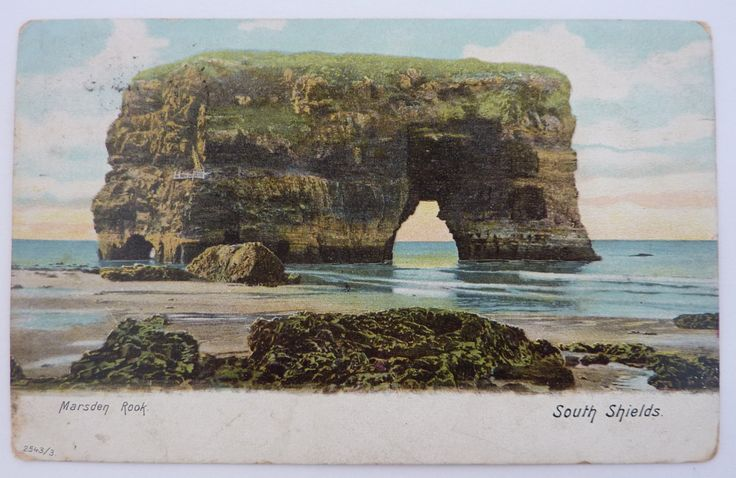 Antique Postcard - Marsden Rock, South Shields - 2543/3 c. 1903/04 by FireHorseVintageHQ on Etsy