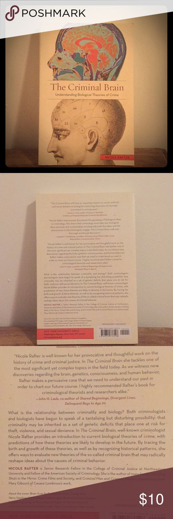 The Criminal Brain by Nicole Rafter Understanding Biological Theories of Crime. Paperback, excellent condition Other