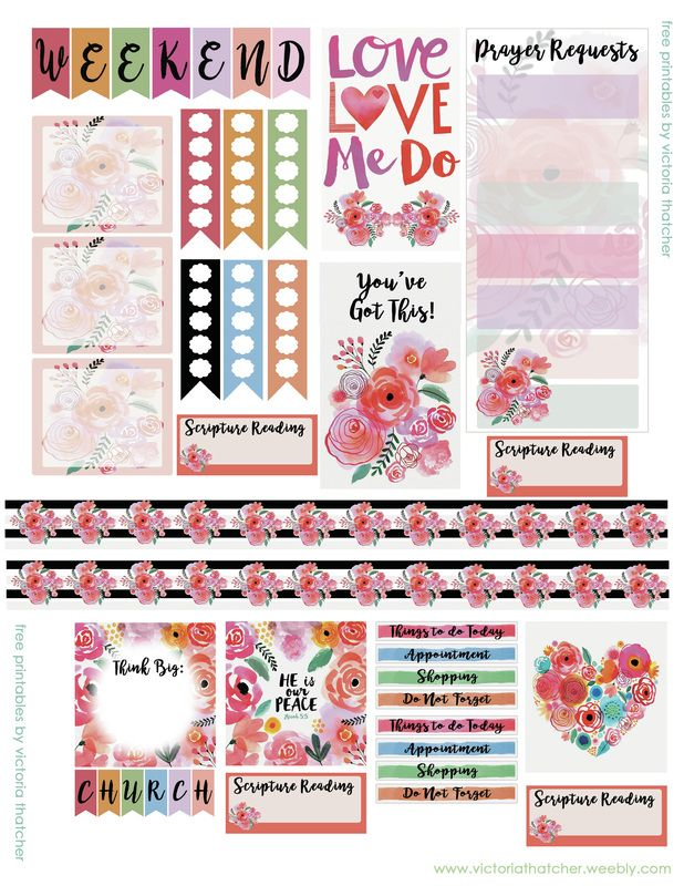 Planner & Journaling Printables ❤ FREE Scripture Watercolor Planner by Victoria Thatcher