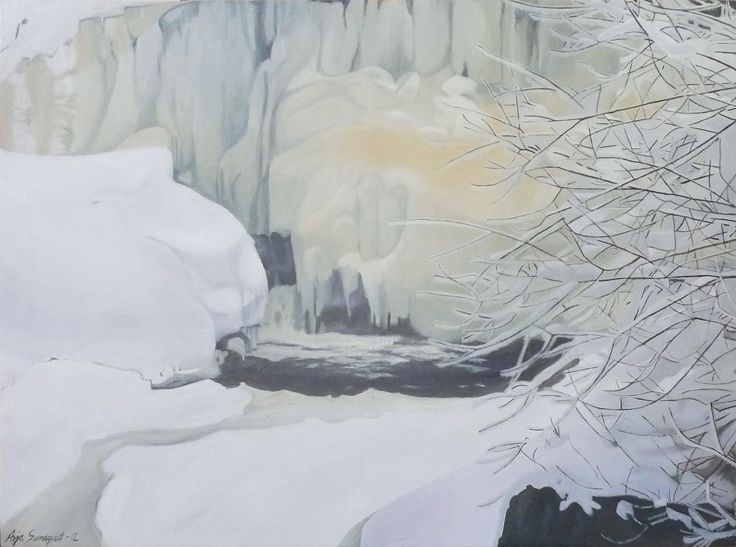 Arja Sundqvist, The runny ice. NORDIC FACES - ekspozycja zaprezentuje prace 15 artystów z Haagan Taideseuraw. Centrum Promocji Kultury ul. Podskarbińska 2, Warszawa - wystawa czynna od 28.03 do 17.04.2015 r. http://artimperium.pl/wiadomosci/pokaz/531,nordic-faces-w-centrum-promocji-kultury#.VRLRz_mG-So