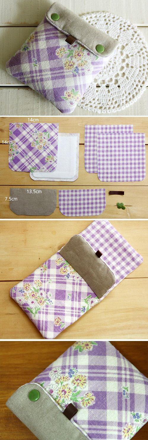 Mini fabric wallet sewing. Tutorial DIY in Pictures.   http://www.handmadiya.com/2015/11/mini-wallet-tutorial.html