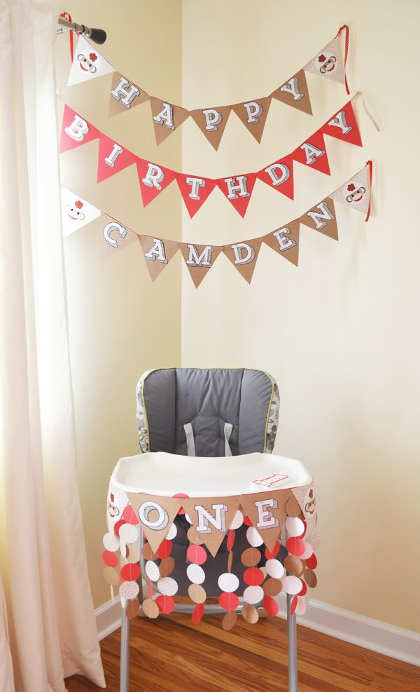 Sock Monkey Theme Birthday Party