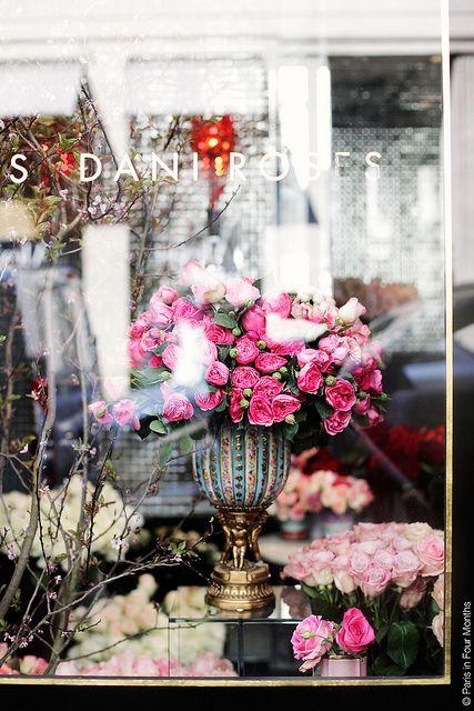 Rose fleurs à l'Hôtel Costes Paris