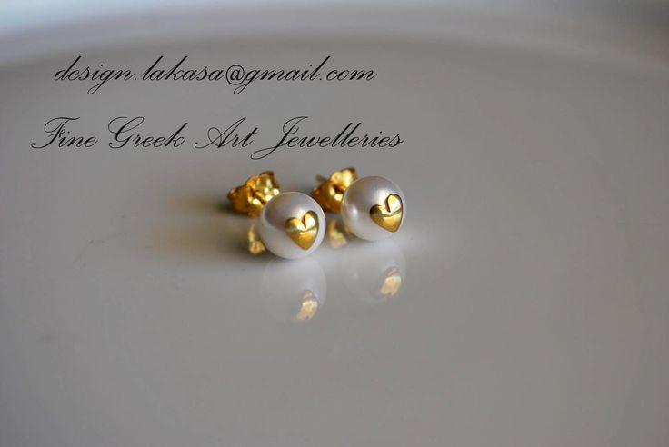 Χειροποίητα σκουλαρίκια ασημένια 925, επιχρυσωμένα.