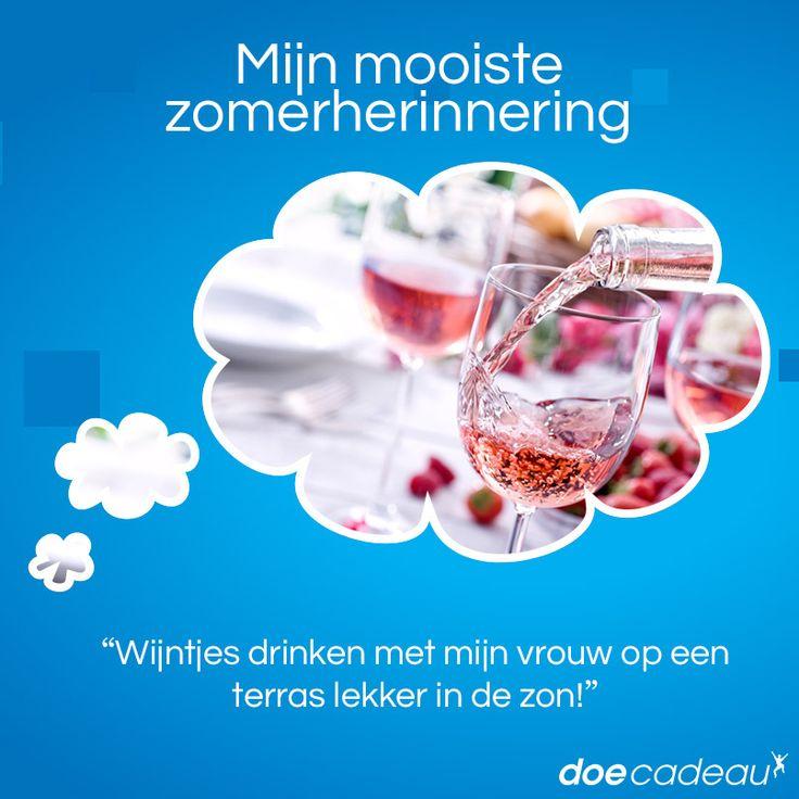 Wijntjes drinken in het zonnetje! #zomer #zomerherinnering