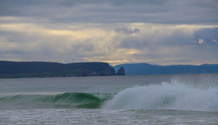 Waves crashing at the Neck Beach, Bruny Island.   #brunyisland #tasmania #tassie #beach #ocean #waves #ocean #photography