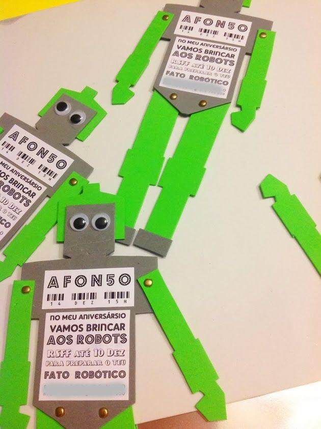 FLOR de LISBOA: robot party invitation