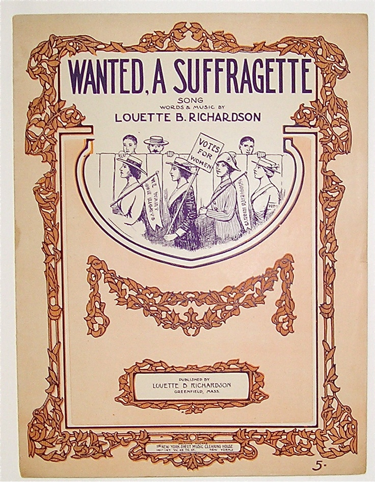 Sheet Music | Woman Suffrage Memorabilia