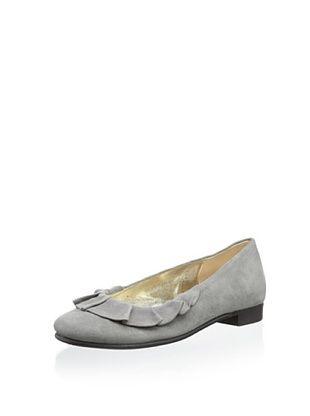 56% OFF Aline Kid's Ruffle Ballet Flat (Grey)