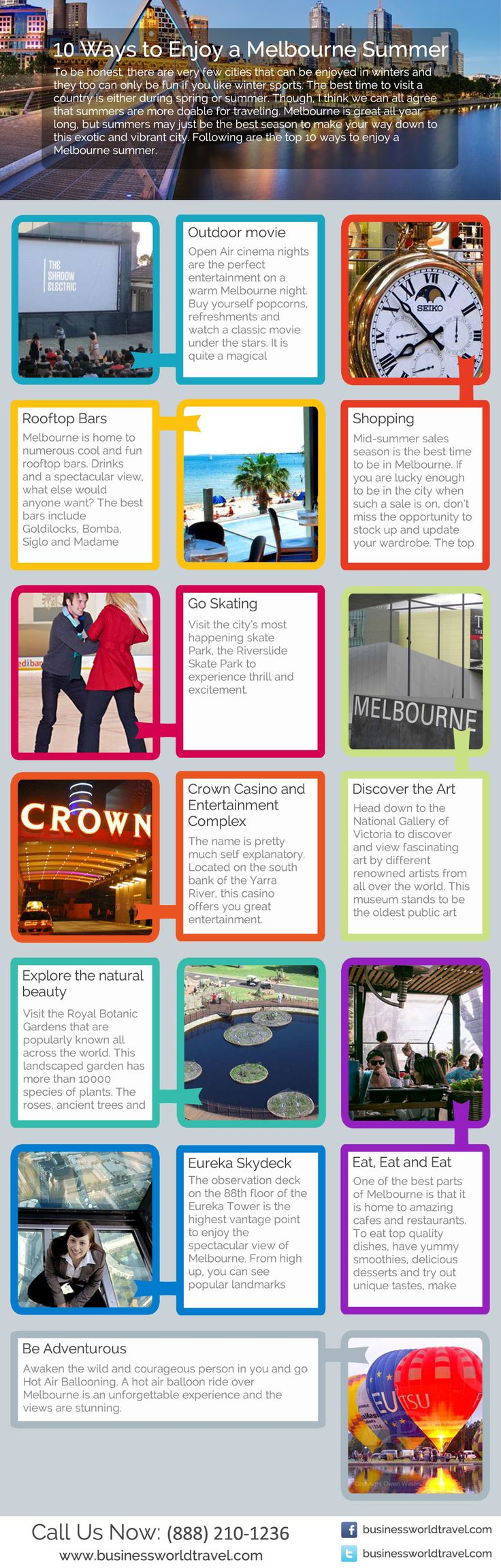Melbourne one of the best place for the tourist and vacations point of view. You can plan your travel to Melbourne with your friends and family. Here are the 10 ways about how to enjoy summer in Melbourne. Resource: http://planyourairtravel.blogspot.com/2014/09/top-10-ways-to-enjoy-summer-in-melbourne.html #Melbourne  #MelbourneSummer