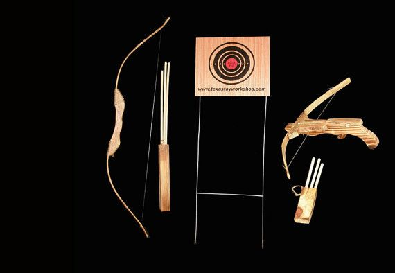 Check out this item in my Etsy shop https://www.etsy.com/listing/251359646/childrens-wooden-bow-and-arrow-set-kids