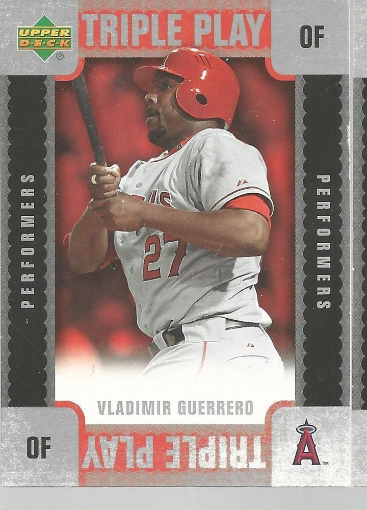 Vladimir Guerrero Triple Play Baseball Card 2007 Upper Deck TP-VG Unscratched #UpperDeck #AnaheimAngels