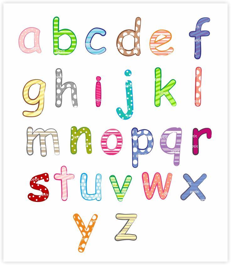 alphabet A-Z Digital clip art, letter A to Z clip art, instant download, digital…