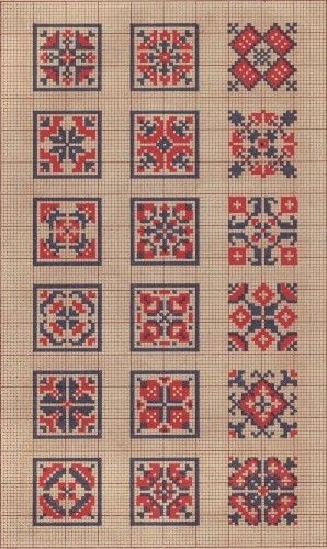 Square cross stitch patterns
