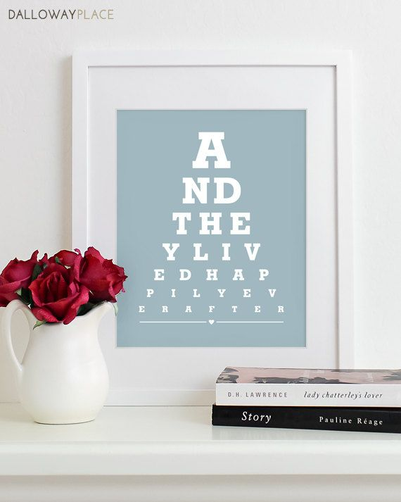 Unique Bridal Shower Gift For Bride HAPPILY EVER AFTER Wedding Table Decor Reception Decorations Gift For Couples 8x10. $16.00, via Etsy.