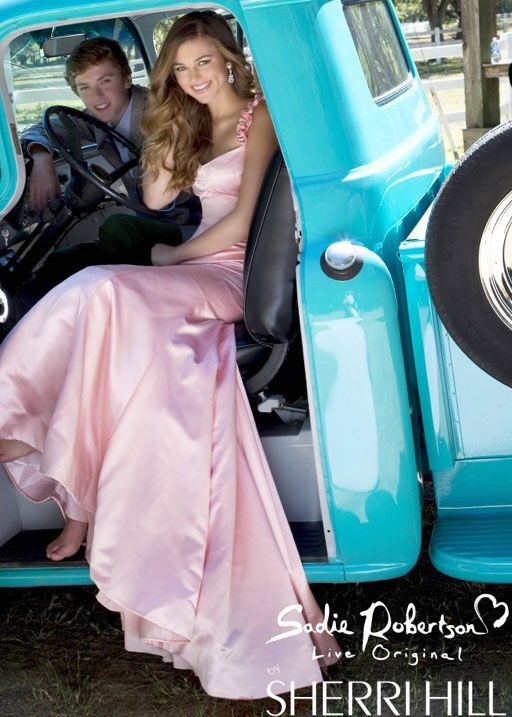 """Daddy approved"" Prom Dresses line by Sadie Robertson! Love love love!"