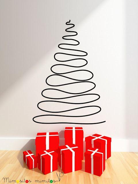 Vinilo rbol de navidad decoraci n navidad christmas for Vinilos pared navidad