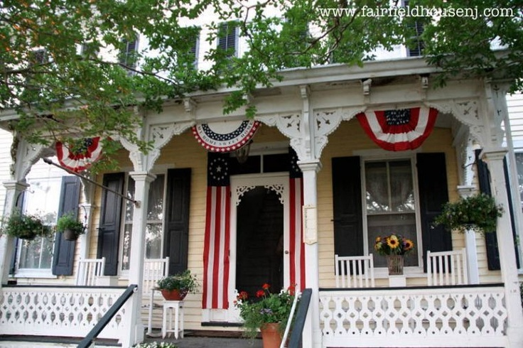 A Favorite Outdoor Space -- A Patriotic Victorian Farmhouse Front Porch